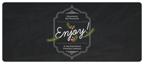 """Enjoy"" Wraparound Christmas Food Gift Label"