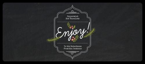 """Enjoy"" Wraparound Christmas Food Gift Label"