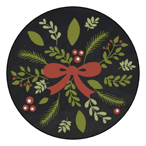 Decorative Red Christmas Bow Gift Sticker