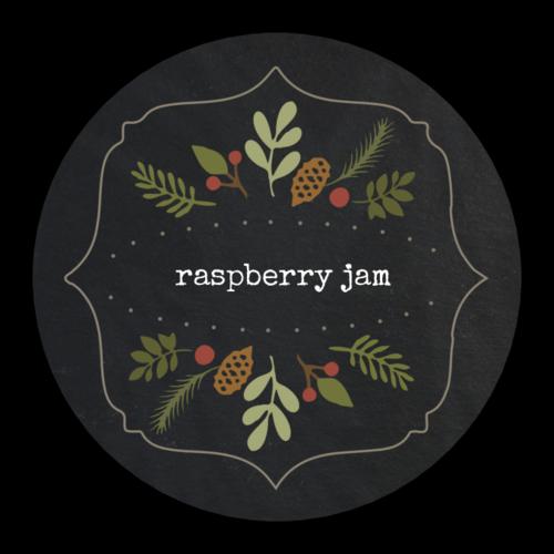Christmas Ferns Decorative Jar Gift Label