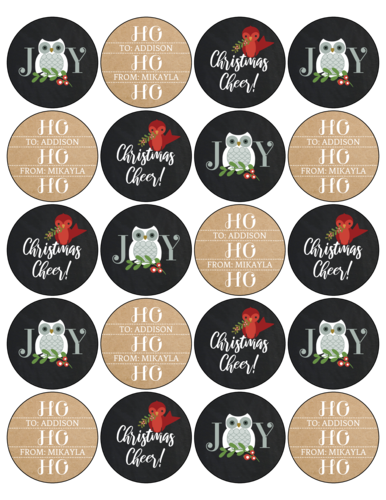 Woodland Creatures Christmas Gift Labels, Assorted