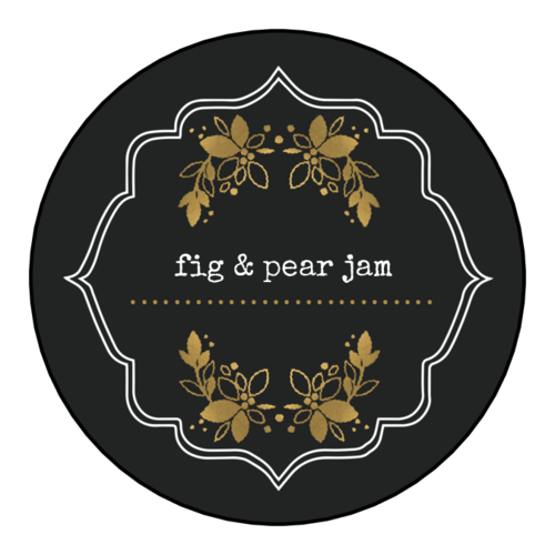Golden Accent Jar Lid Label