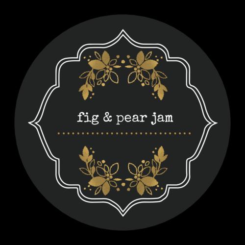 Golden Accent Jar Lid Label