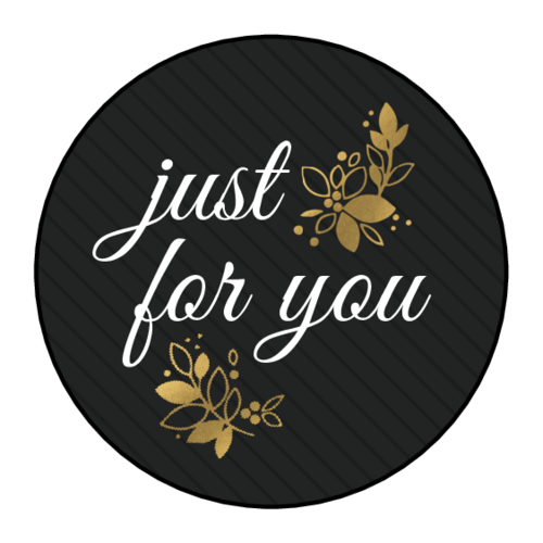 """Just for You"" Golden Gift Label"
