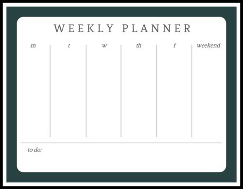 Weekly Calendar Planner Sticker
