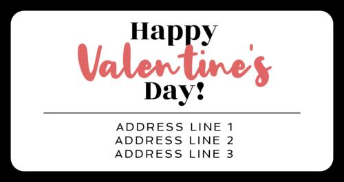 """Happy Valentine's Day!"" Calligraphic Shipping Address Label"