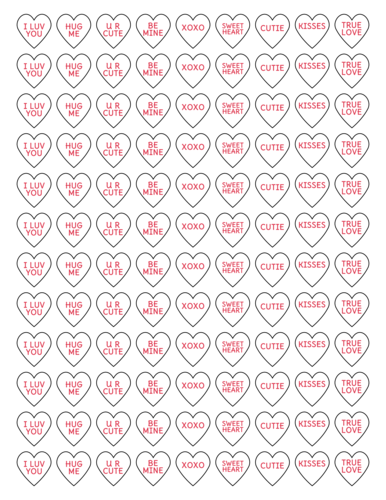 Mini Conversation Hearts