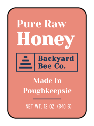 Abstract Beehive Honey Jar Label