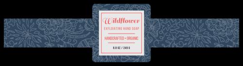 """Wildflower"" Floral Wrap Around Soap Label"