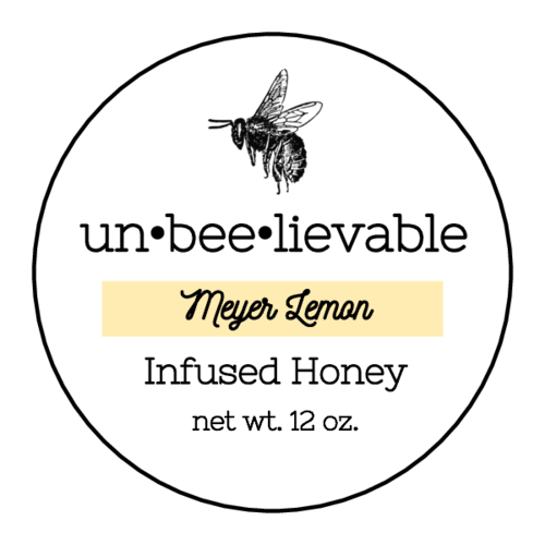 Minimalist Color Coded Circle Honey Jar Label