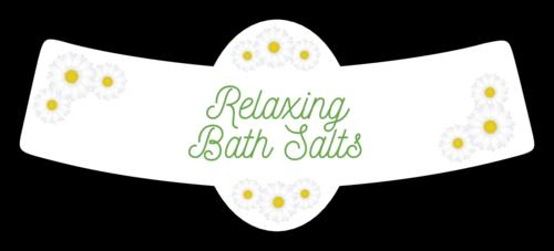 Relaxing Bath Salts Sunflower Bottle Neck Style Label