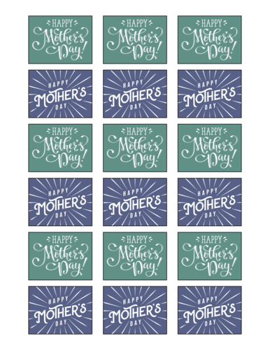 """Happy Mother's Day"" Assorted Gift Label"
