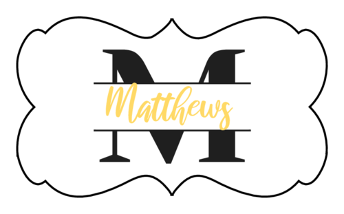 Elegant Monogram and Name Label