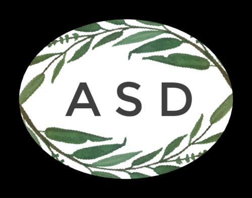 Florid Oval Monogram Label