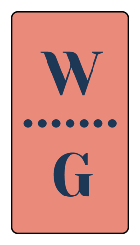 Vertical Two Letter Monogram Label