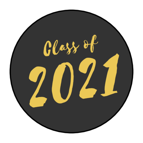 """""""Class of"""" School Colors Circle Label"""