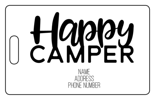 Happy Camper Luggage Tags