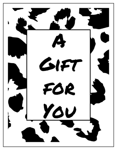 Animal Print Cardstock Gift Certificate Card