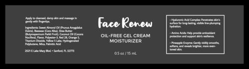 Modern Face Cream Jar Label