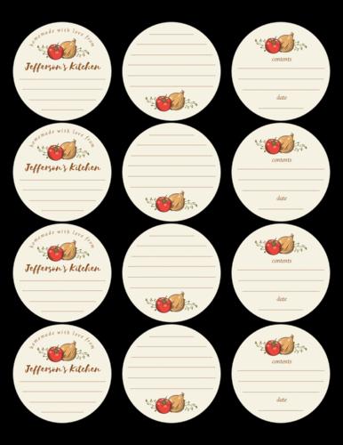 Assorted Vintage Autumn Salsa Canning Label