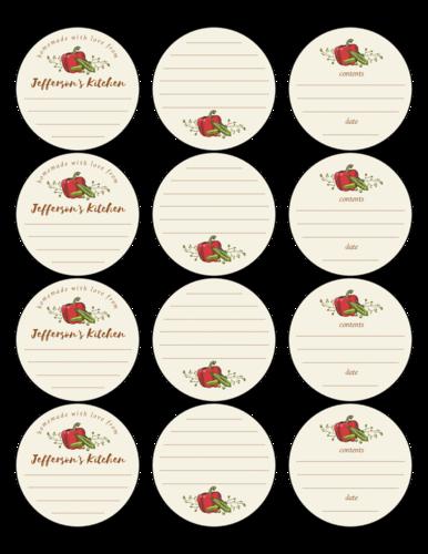 Assorted Vintage Autumn Pepper Canning Label