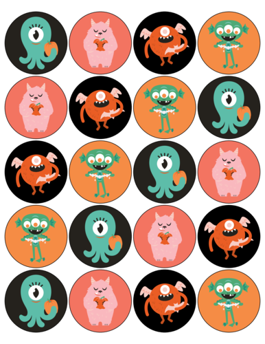 Spooky Assorted Halloween Monster Stickers