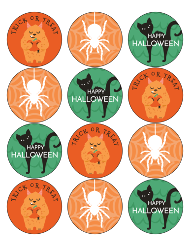 Spooky Assorted Halloween Circle Stickers