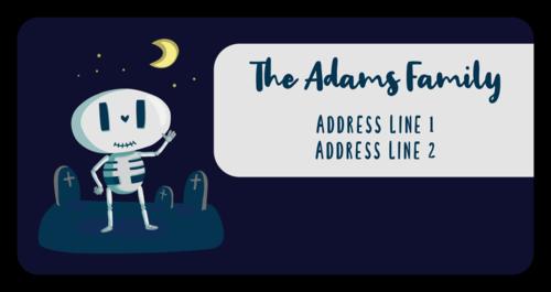 Spooky Skeleton Halloween Address Labels