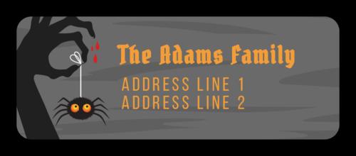 Spooky Spider Halloween Return Address Label