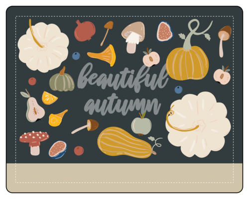 """""""Beautiful Autumn"""" Write-In Jar and Bottle Label"""