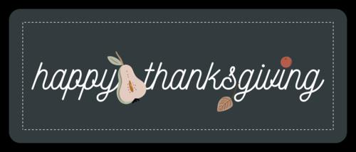 """Happy Thanksgiving"" Autumn Harvest Gift Favor Label"