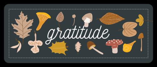 """Gratitude"" Autumn Harvest Thanksgiving Gift Favor Label"