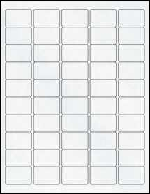 "Sheet of 1.5"" x 1"" Clear Matte Inkjet labels"
