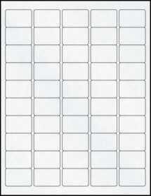 "Sheet of 1.5"" x 1"" Clear Matte Laser labels"