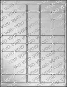 """Sheet of 1.5"""" x 1"""" Void Silver Polyester labels"""
