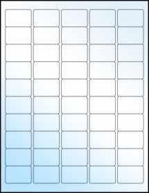 """Sheet of 1.5"""" x 1"""" White Gloss Inkjet labels"""