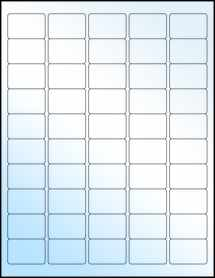 "Sheet of 1.5"" x 1"" White Gloss Laser labels"