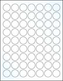 "Sheet of 1"" Circle Clear Gloss Laser labels"