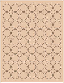 "Sheet of 1"" Circle Light Tan labels"