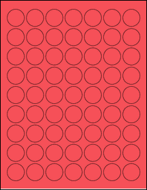 "Sheet of 1"" Circle True Red labels"