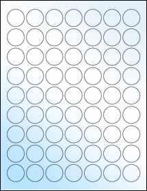 "Sheet of 1"" Circle White Gloss Inkjet labels"