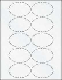 """Sheet of 3"""" x 2"""" Clear Matte Inkjet labels"""