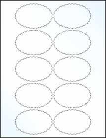 "Sheet of 3"" x 2"" Clear Gloss Inkjet labels"