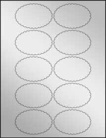 """Sheet of 3"""" x 2"""" Silver Foil Inkjet labels"""