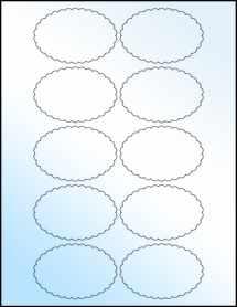 """Sheet of 3"""" x 2"""" White Gloss Inkjet labels"""