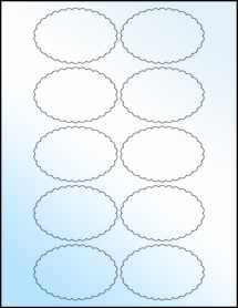 """Sheet of 3"""" x 2"""" White Gloss Laser labels"""