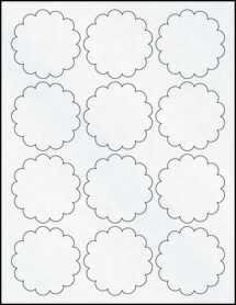 """Sheet of 2.5"""" Clear Matte Inkjet labels"""