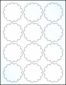 "Sheet of 2.5"" Clear Gloss Inkjet labels"