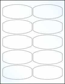 "Sheet of 3.875"" x 1.875"" Clear Gloss Inkjet labels"
