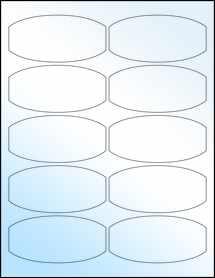 """Sheet of 3.875"""" x 1.875"""" White Gloss Inkjet labels"""